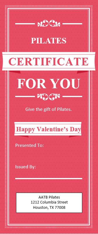 Shopping For Valentine S Day Massage And Pilates Gift Cards